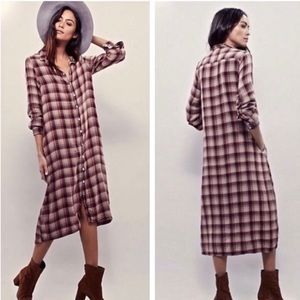 Free People x CP Shades plaid midi dress